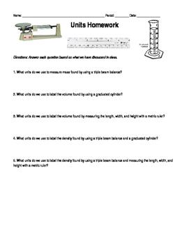 Units Homework