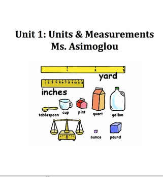 Units, Metric Measurements and Conversions, Sci. Notation,