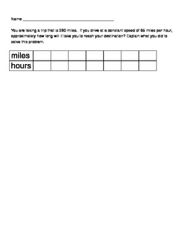 Units & Rates Worksheet ( Common Core Aligned)