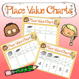 Units, Tens, Hundreds, Thousands Place Value Charts