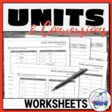 Units and Conversions Worksheets | Printable and Digital