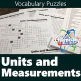 Units and Measurements Vocabulary Puzzles (Crossword, Word
