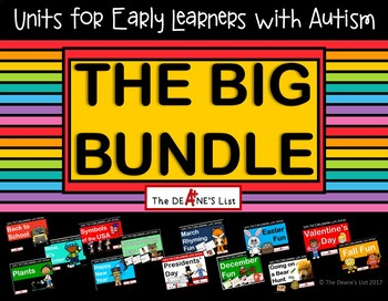 Units for Early Learners with Autism: The Big Bundle