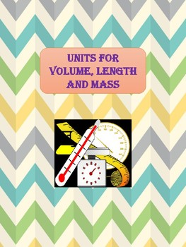 Units for volume, length and mass - Exercising examples / Worksheets