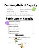 Units of Capacity Handout