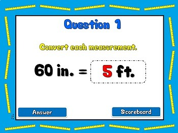 Units of Length - Measurement Conversion PPT Game
