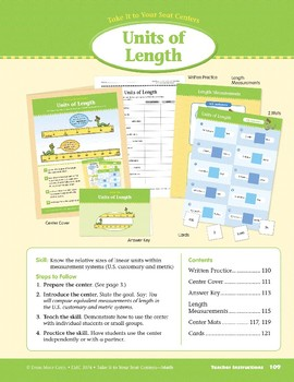 Units of Length (Take It to Your Seat Centers Common Core Math)