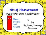 Units of Measurement (Mass, Length, and Volume) Puzzle Matching Review Game