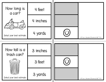 Units of Measurement (Customary Units) - Self-Checking Math Centers