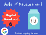 Units of Measurement - Digital Breakout! (Escape Room, Brain Break, Test Prep)