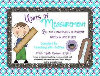 Units of Measurement - Equivalent Printable
