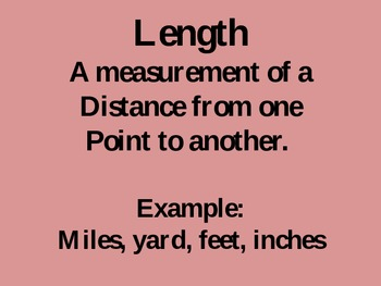 Units of Measurement PowerPoint Lesson