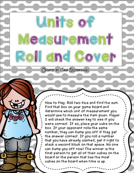Units of Measurement Roll and Cover {FREEBIE}
