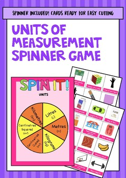 Units of Measurement Spinner Game (Year 5 ACARA Maths Measurement)
