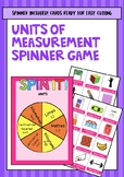 Units of Measurement Spinner Game (Year 5 ACARA Maths Meas