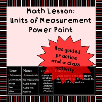 Units of Measurement power point