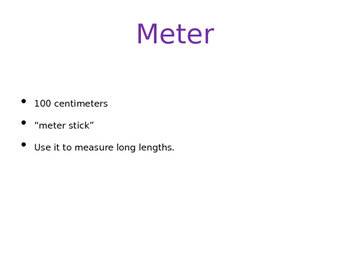 Units of Metric Length