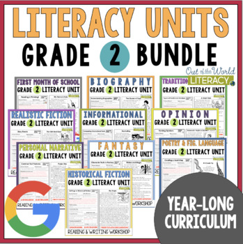 Units of Study Bundle: Grade 2 {10 Months of Lessons w/ CCSS & NEW TEKS!}