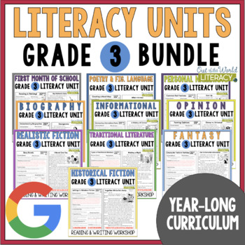 Reading and Writing Workshop: Grade 3 {10 Months of Lessons w/ CCSS & NEW TEKS!}