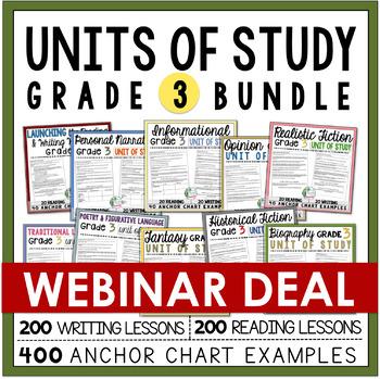 Units of Study Bundle: Grade 3  *** WEBINAR EXCLUSIVE DEAL