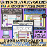 Units of Study Middle School: End of Unit DIGITAL Assessments