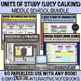 Units of Study: Middle School Digital Interactive Notebook BUNDLE