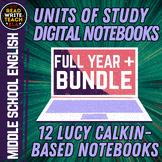 Units of Study: Middle School Digital Interactive Notebook BUNDLE