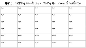 Units of Study Pacing Guides - Grade 5