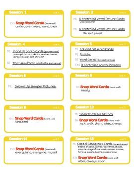 Units of Study Phonics Labels- 1st Grade Unit 5