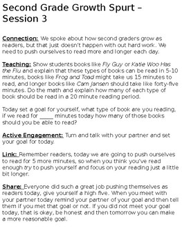 Units of Study Reading - Second Grade Growth Spurt