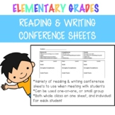 Reading & Writing Conference Sheets for Teachers