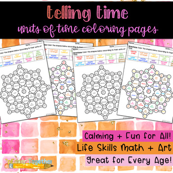Units of Time Adult Coloring Page