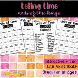Telling Time: Units of Time Bingo