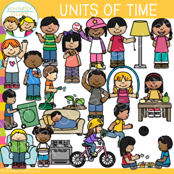Units of Time Clip Art {One Second, One Minute, One Hour}