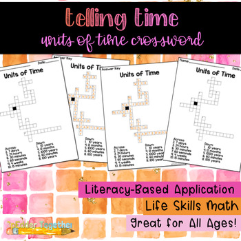 Telling Time: Units of Time Crossword