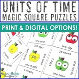 Units of Time Center Game: seconds, minutes, hours, days, weeks, months, & years