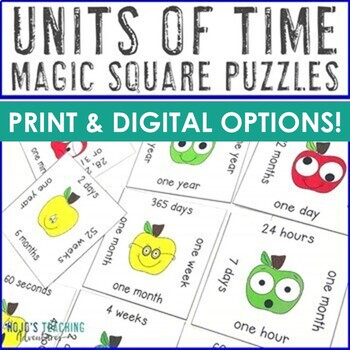 Units of Time Center Game: seconds, minutes, hours, days,