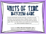 Units of Time Matching Game Freebie