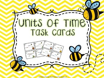 Convert it! Units of Time Task Cards