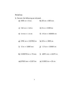 Units of measurement: length