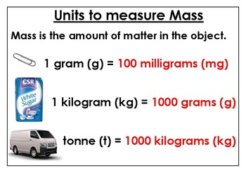 Units to measure Mass (Free)