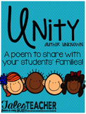 Unity Poem {A Back to School Essential}