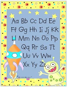 Lettres Espace (Letter Recognition & Identification activities)