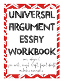 Universal Argument Essay Workbook - Full Writing Process, Core Aligned