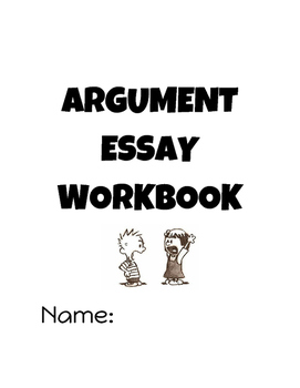 Universal Argument Essay Workbook - Full Writing Process, Core Aligned