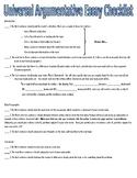 Universal Argumentative Essay Checklist