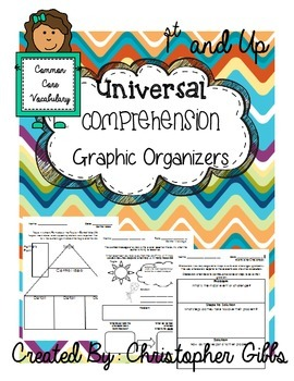 Universal Comprehension Graphic Organizers (Common Core Vocabulary)