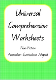 Universal Comprehension Worksheets- Non-Fiction - Australi