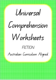 Universal Comprehension Worksheets- Fiction - Australian C