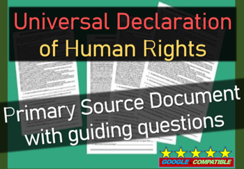universal declaration of human rights united nations 1948 primary source w qs. Black Bedroom Furniture Sets. Home Design Ideas